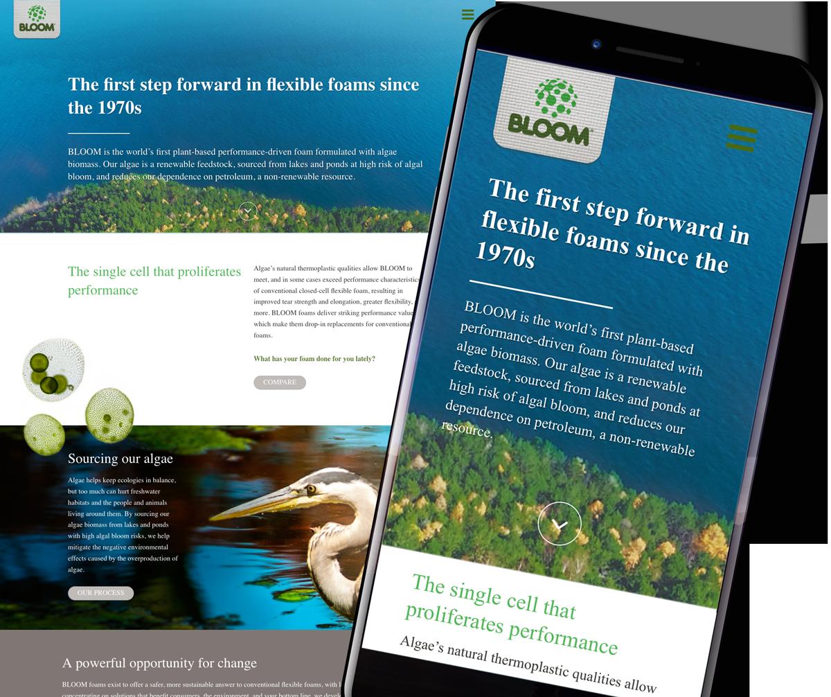 Bloom Foam Wordpress Website