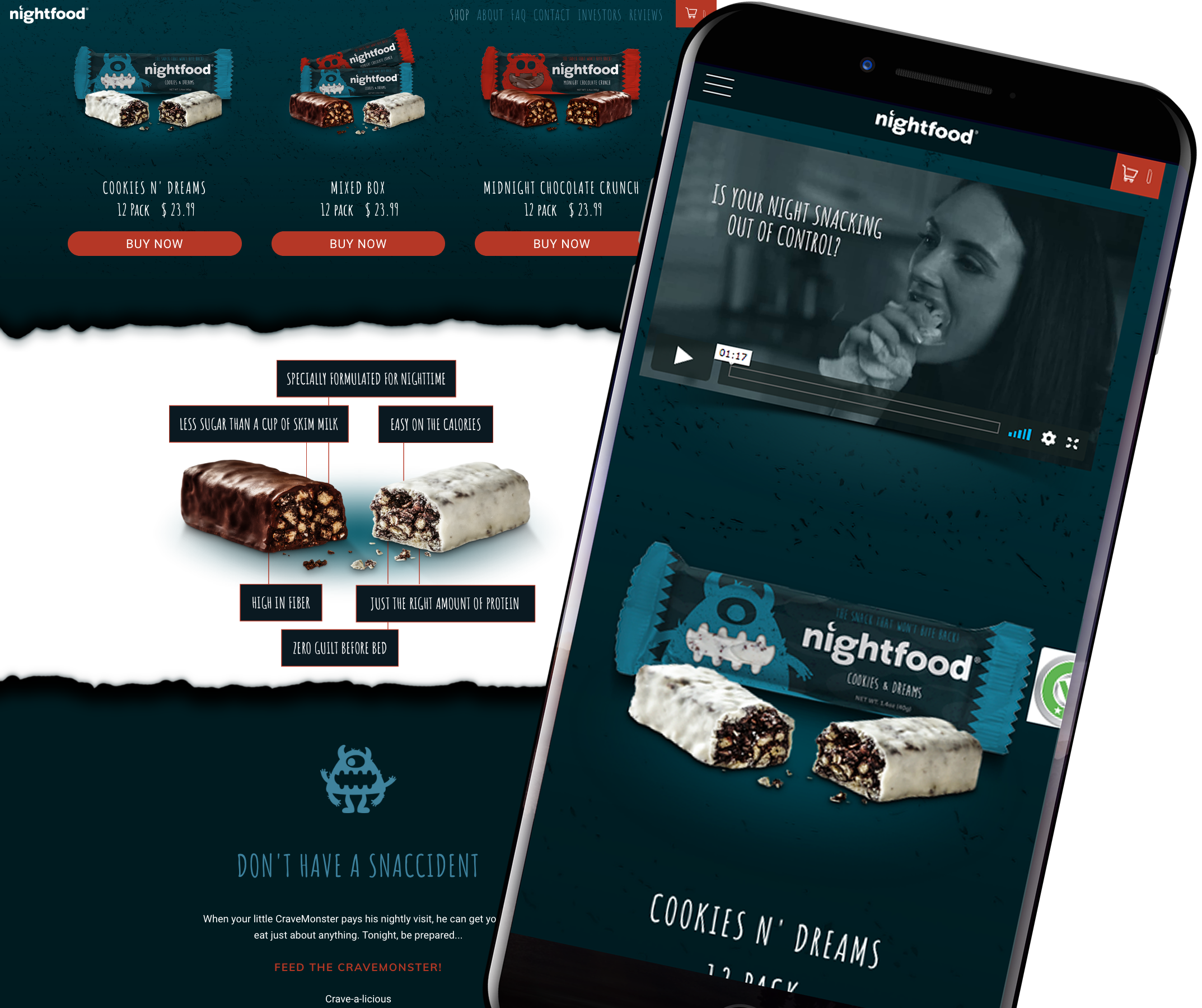 Nighfood Shopify Website Development